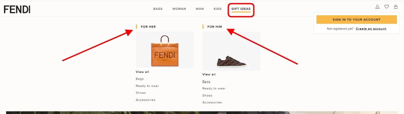 Gift Finder Section
