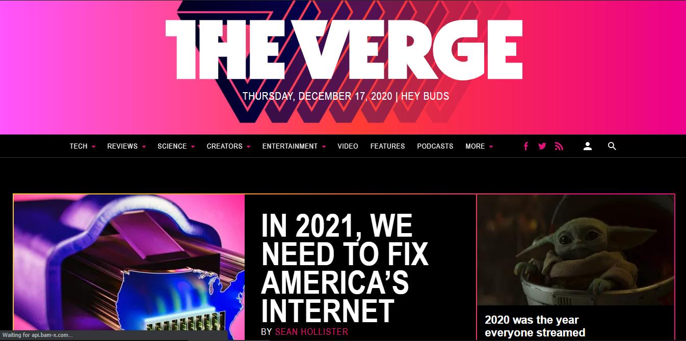the verge - finest technology blogs