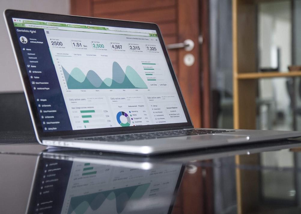 Analytics of a website.